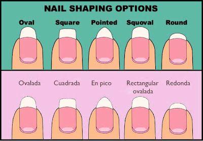 Formas de uñas acrílicas y sus nombres