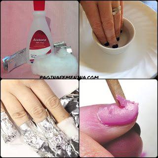 Como despegar uñas acrílicas en casa