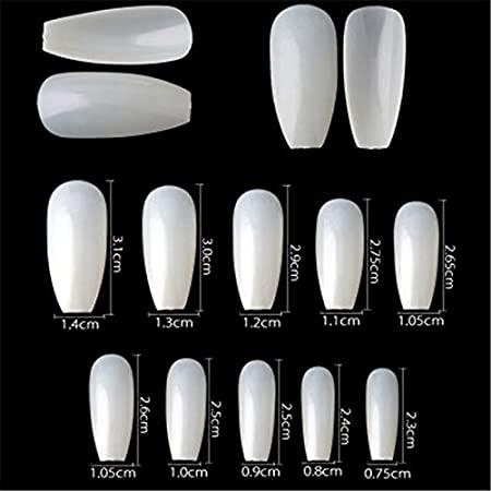 Números de uñas acrílicas
