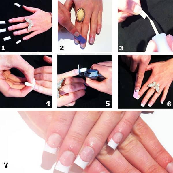 Como poner uñas acrílicas