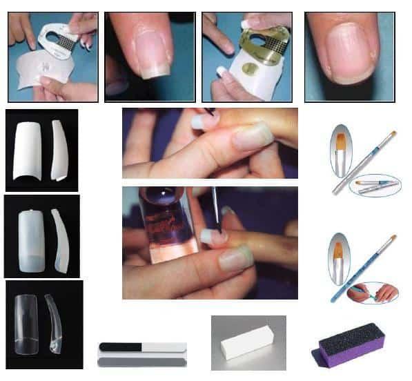 Nombres de los tipos de uñas acrílicas